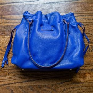 Kate Spade large leather drawstring shoulder bag